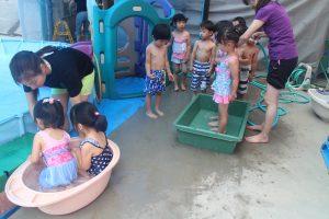 夏期保育2日目 年少・年中プール